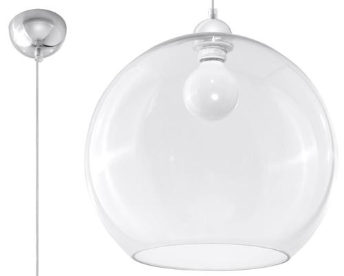 Transparentna lampa wiszaca marco transparentny l