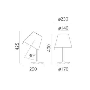 Lampă de masă Artemide Melampo Notte 0710010A small 1
