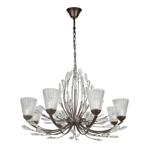 Lampa suspendată Leticia Flora 8 Black - 343012008