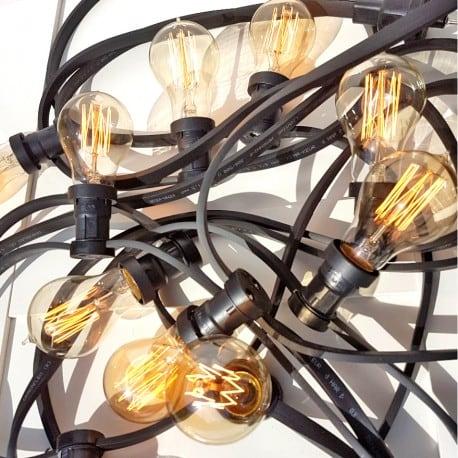 Grădină Black Light String 10m 20 Lightholders