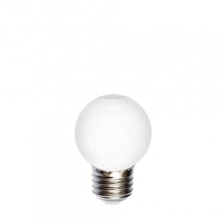 Bec pentru ghirlande cu bilă LED 45mm 1W alb rece