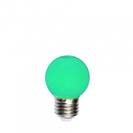 Bec pentru ghirlande cu bilă LED 45mm 1W verde