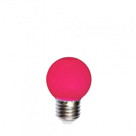Bec pentru ghirlande cu bilă LED 45mm 1W roșu