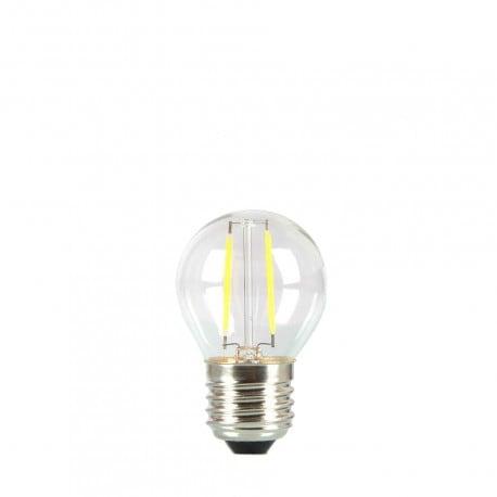 Bec pentru ghirlandă cu bilă LED 45mm 2W culoare de căldură transparentă
