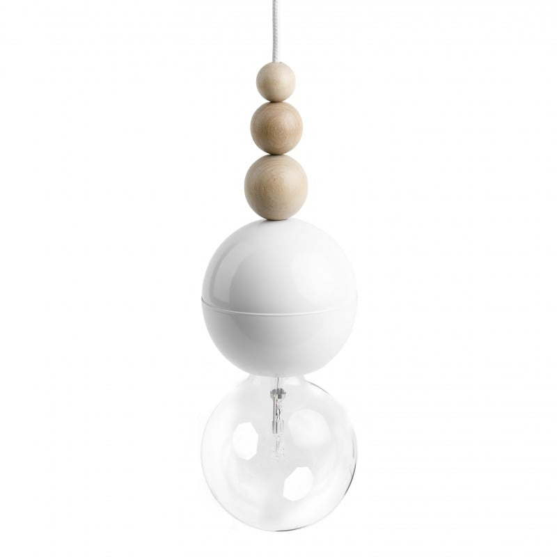 Loft Bala lampă cu pandantiv alb
