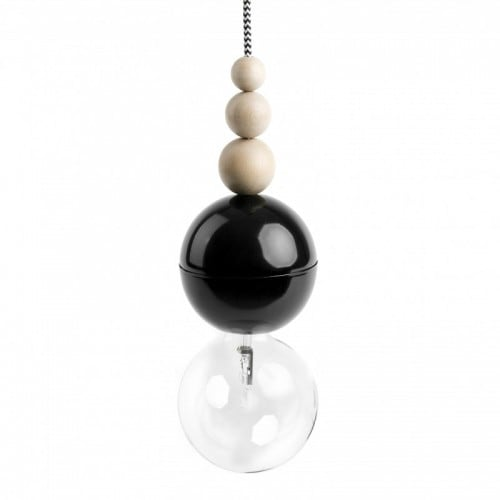 Loft Bala lampă cu pandantiv negru