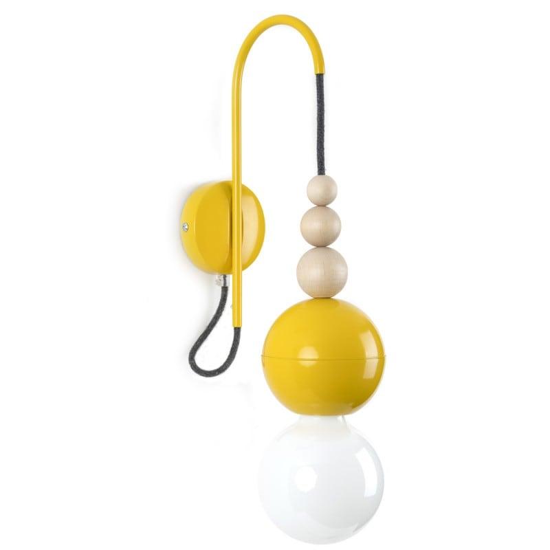 Loft Bala lampă de perete galbenă