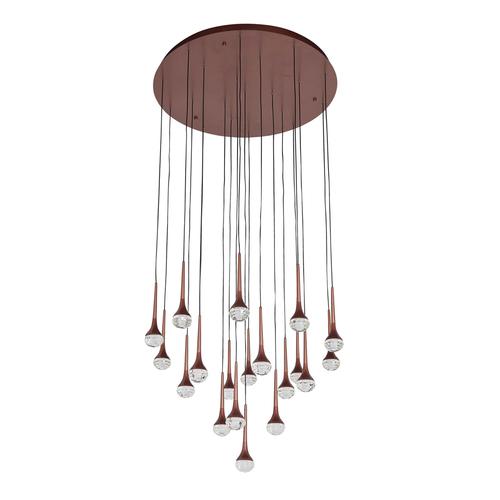 Lampa suspendată Flensburg Hi-Tech 92 Brown - 609015520