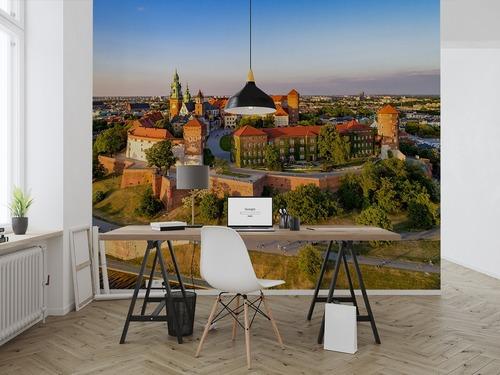 Fotomural Cracovia Walel Vedere aeriană în primăvara târziu