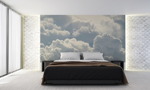 Nori de perete pentru dormitor, cer, alb, lumină