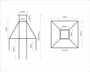 Alha H 9010- Lampa suspendată SHILO-DOHAR small 5