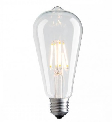 Filament LED decorativ Vintage Amber 3000K 1055lm 7.5W bec