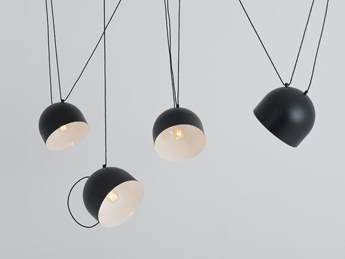 Lampa suspendată POPO L 4 - negru