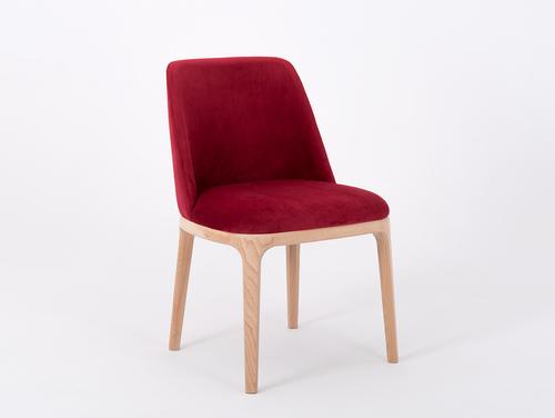 Scaun tapițat cu găleată LULU afine
