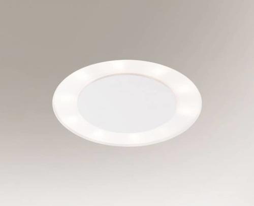 Lampa rotunda incastrata BANDO 3321 Shilo 2G11 6xTC-L 18W Plasa alba