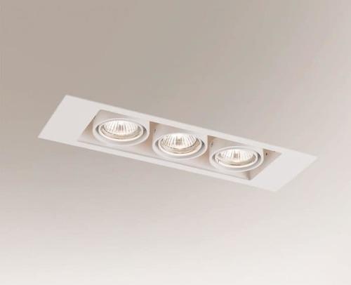 Lampa cu plafon încastrată EBINO 3307 Shilo GU10 3xPAR16 50W