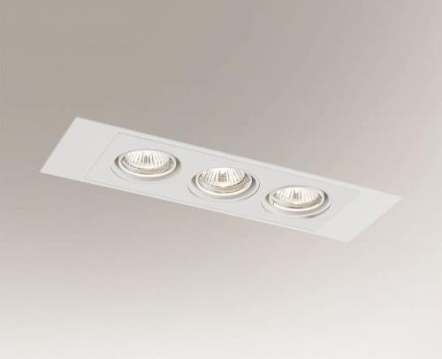 Lampa cu plafon încastrată EBINO H 3348 Shilo GU10 3xPAR16 50W