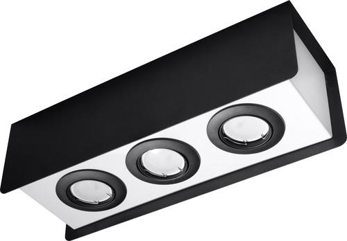 Plafonul alb-negru STEREO 3 Black SL.0411