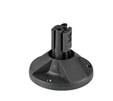 Baza de montare cu agrafă neagră pentru montaj stâlpi 1000, 150000, 2000 mm