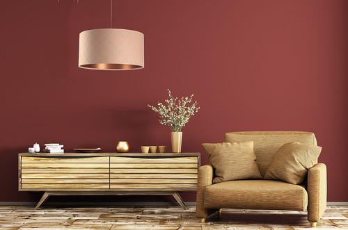 Lampă cu pandantiv pentru sufragerie Piele E27 60W matlasată, somon, cupru