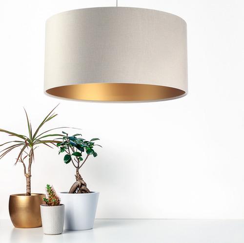 Lampa suspendată din piele, material textil din catifea, auriu mat E27 60W