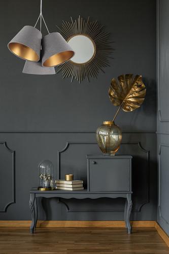 Triple BUCKET E27 40W lampă înălțime reglabilă gri / auriu