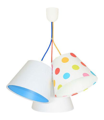 Lampa de tavan pentru camera copiilor BUCKET E27 60W puncte colorate, alb