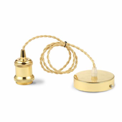 Lampa cu suspendare minimalistă în aur