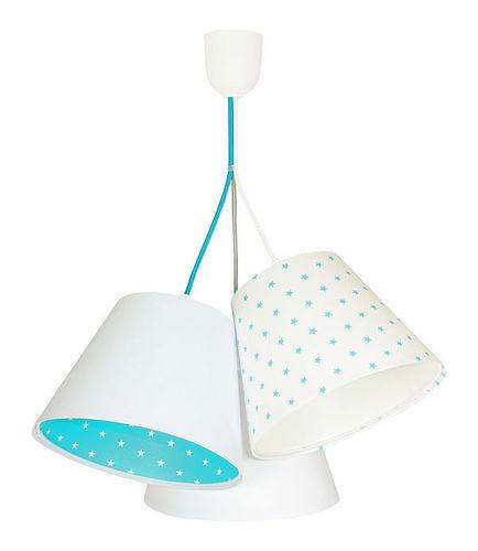Lampa pentru camera băiatului BUCKET E27 60W alb / albastru, stele