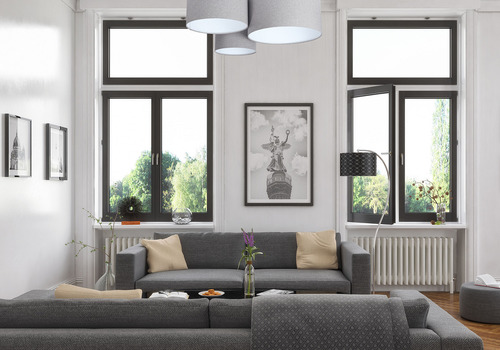 Clasic Elements 60W E27 lampă de tavan din pâslă gri / alb