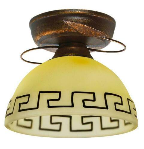 Lampa Retro Plafon Bronz + cupru