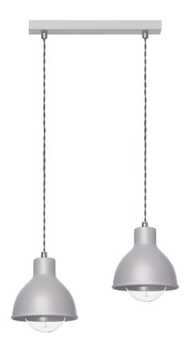 Lampa suspendată design Zoe 2 L gri