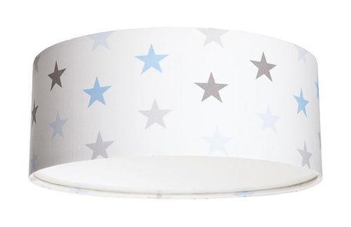 Luminance E27 60W LED lampă de tavan pentru un băiat cu stele albe / gri / albastre