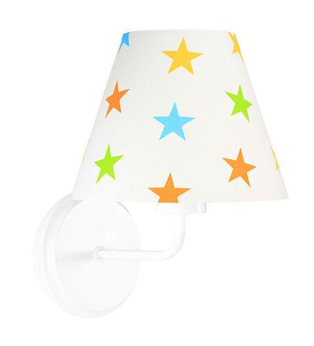 Lampă de perete pentru copii Raggio E27 60W lemn / metal, stele colorate