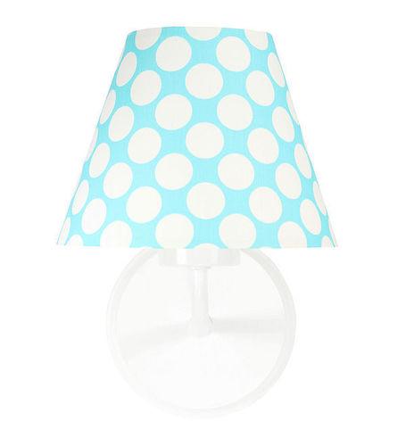 Lampa de perete pentru camera copiilor - Raggio E27 60W turcoaz / puncte albe
