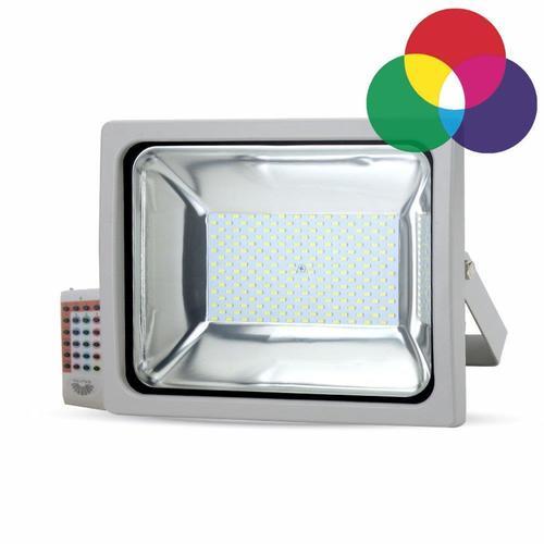 Proiector LED V-TAC 30W RGB, telecomandă radio, carcasă gri, 2400lm VT-4732