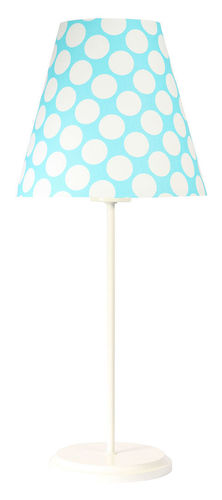 Lampă de masă cu abajur Ombrello 60W E27 50cm albastru / alb puncte