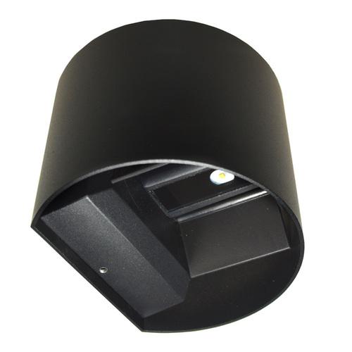 Corp de iluminat cu fațadă LED Kreo 2x3w rotund 4000K negru Kreo 2x3w 4000K unghi de iluminare reglabil