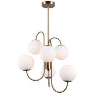 Lampă suspendată din alamă Gela G9, cu 6 becuri small 1