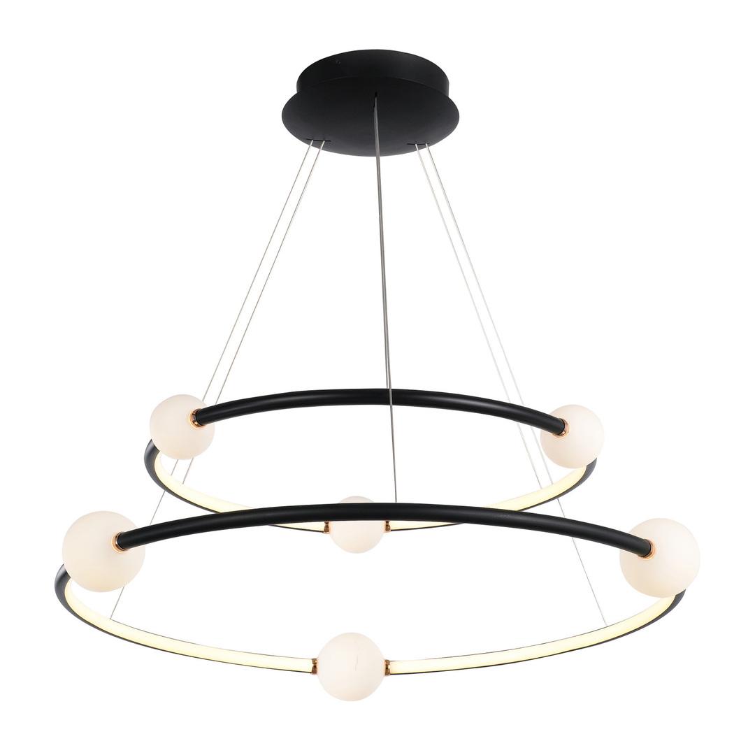 Lampă suspendată cu LED negru Lausanne