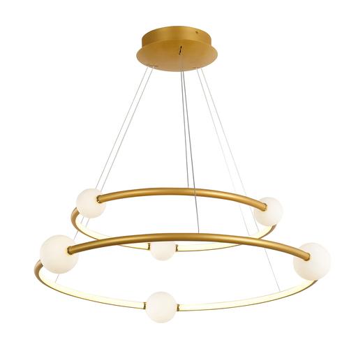 Lampă suspendată cu LED din bronz Lausanne