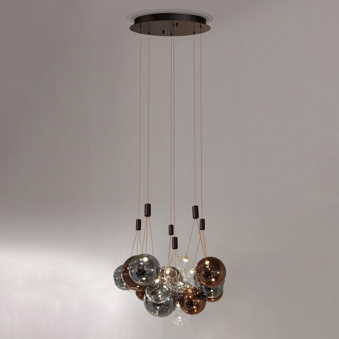 Lampă suspendată cu bronz LED Praleria
