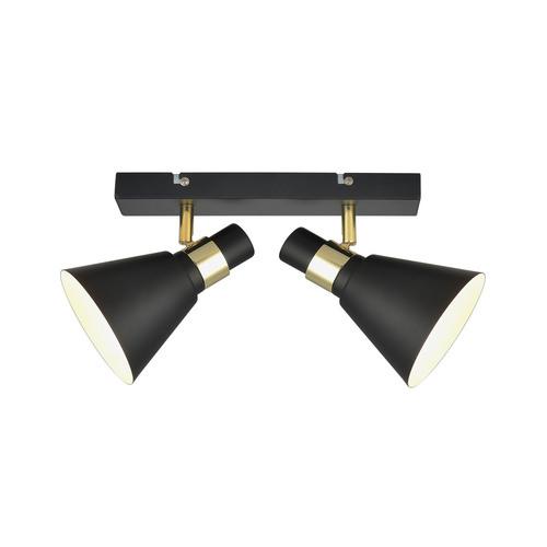 Aplica de perete Biagio E14 cu 2 becuri negre