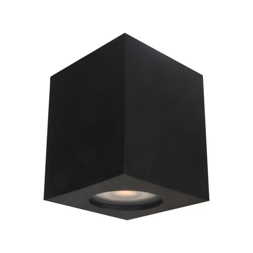 Lampă de suprafață neagră Fabrycio IP44 GU10