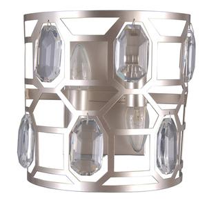 Lampă de perete modernă argintie Momento E14 cu 2 becuri small 0
