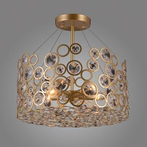 Lampă suspendată aurie Nardo E14 cu 5 becuri small 1