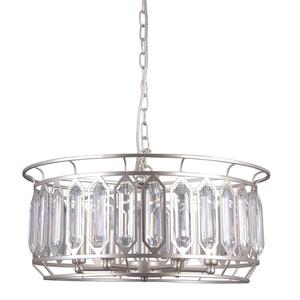 Lampă suspendată argintie Priscilla E14, cu 6 becuri small 0