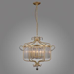 Lampă suspendată din aur cu cristale Rinaldo E14, cu 6 becuri small 2