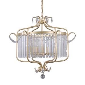 Lampă suspendată din aur cu cristale Rinaldo E14, cu 6 becuri small 0