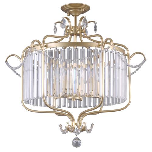 Lampă de tavan clasică cu cristale Rinaldo E14, cu 6 becuri